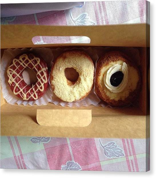 Doughnuts Canvas Print - Red Velvet. Cheese Duo. Blueberry by Mary anne Lagman
