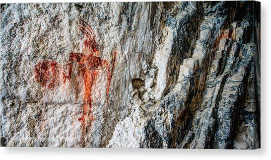 Prehistoric Canvas Print - Red Warrior by Chad Dutson