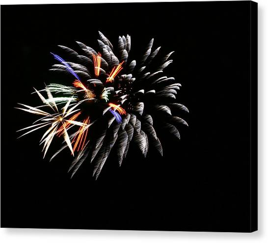 Red White And Blue Canvas Print by Alexandra  Rampolla