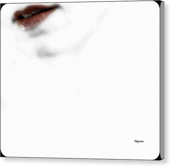 Red White And Sensuous Canvas Print by Steven Digman