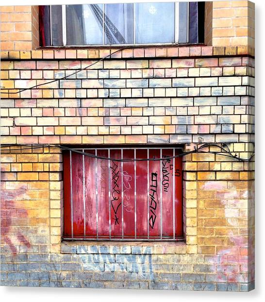 Colorful Canvas Print - Red Window by Julie Gebhardt