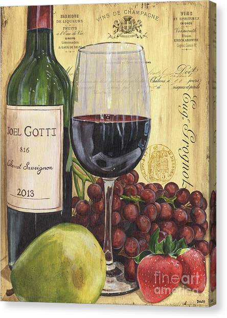 Champagne Canvas Print - Red Wine And Pear by Debbie DeWitt