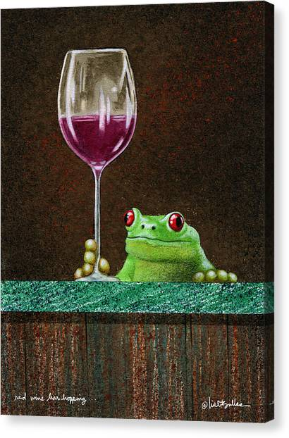 Red Wine Bar Hopping... Canvas Print