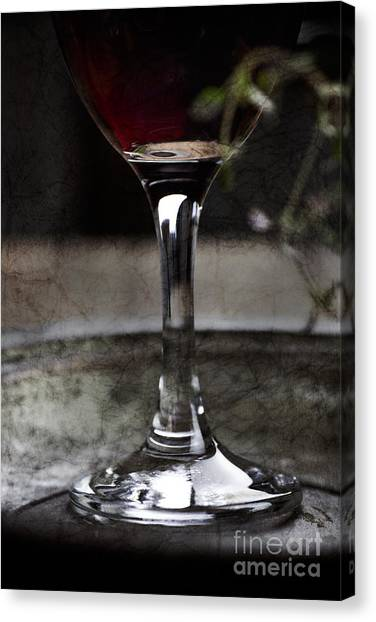 Red Wine Canvas Print by Mythja  Photography