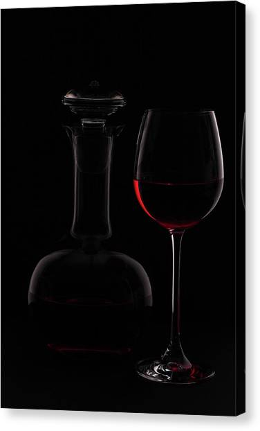 07c47f01d Wine Glass Canvas Print - Red Wine by Rainer Czerwonka Red Wine