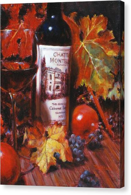 Red Wine With Red Pomergranates Canvas Print by Takayuki Harada