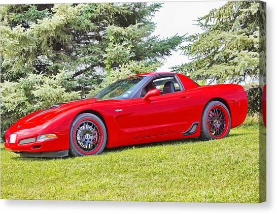 Red Z06 C5 Corvette Canvas Print