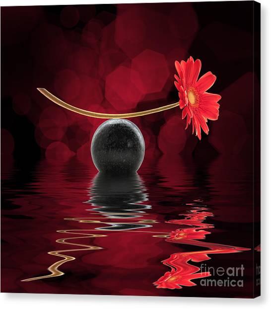 Red Zen Gerbera Canvas Print