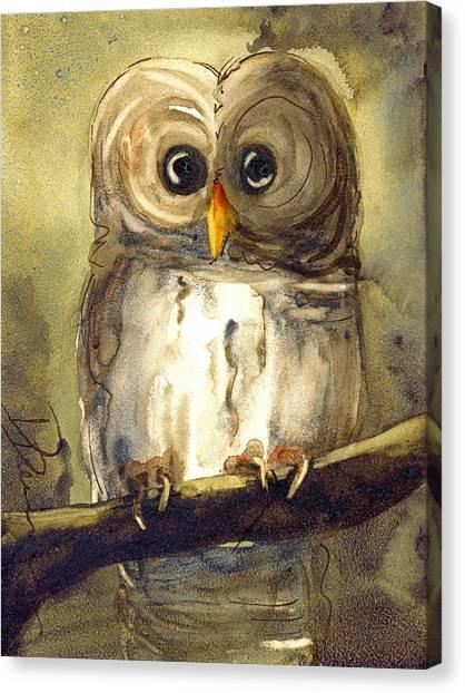 Redbird Cottage Owl Canvas Print