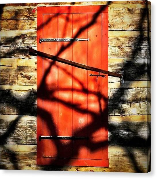 Portal Canvas Print - #reddoor #design #door #weathered by Bill Bernal