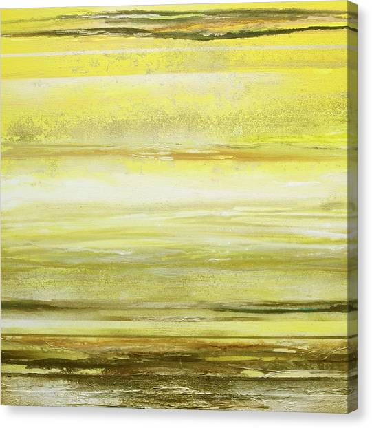 Moorland Canvas Print - Redesdale Rhythms And  Textures Yellow And Sepia by Mike   Bell