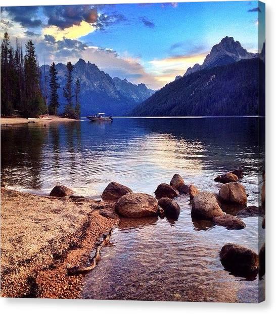 Idaho Canvas Print - #redfishlake #idaho #mountains #water by Cody Haskell
