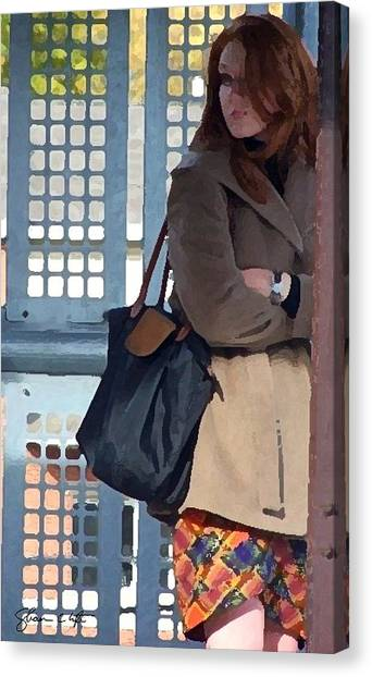 Redhead On Brown Line Canvas Print by Shawn Lyte