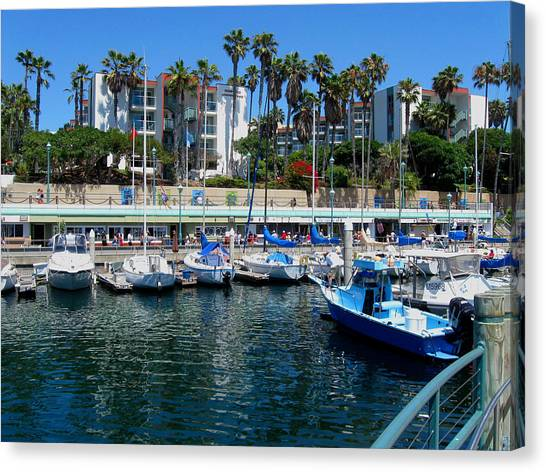 Redondo Beach Marina Canvas Print