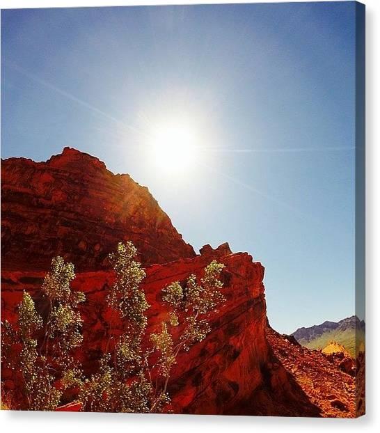 Mars Canvas Print - #redrocks #mars #nevada #valleyoffire by Michael Gilan