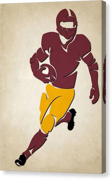 Washington Redskins Canvas Print - Redskins Shadow Player by Joe Hamilton