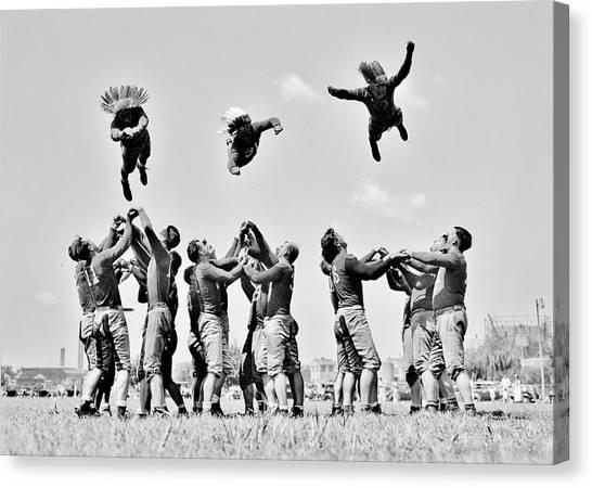 Washington Redskins Canvas Print - Redskins Training Camp by Benjamin Yeager