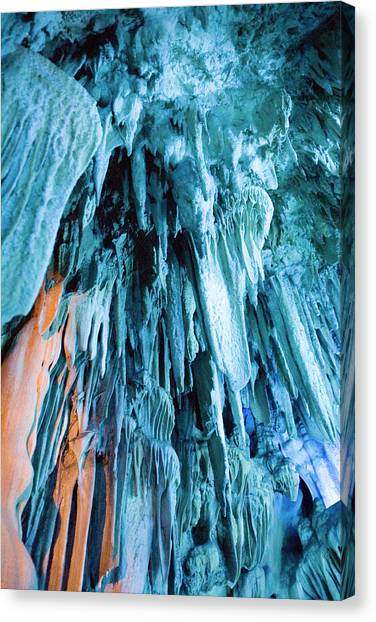 Stalactites Canvas Print - Reed Flute Cave by Adam Hart-davis/science Photo Library
