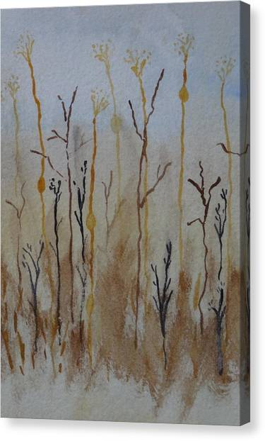 Reeds And Weeds Canvas Print by Catherine Arcolio