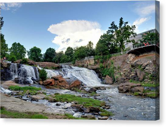 Reedy River Falls Canvas Print
