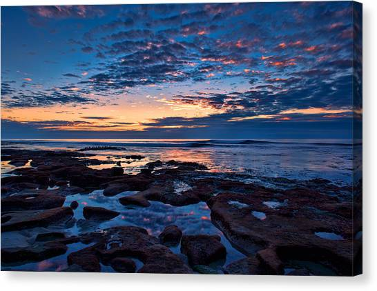 Reef Pool Sunset Reflections Canvas Print