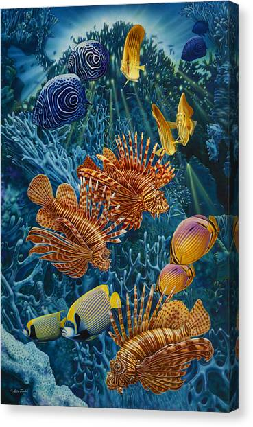 Parrot Fish Canvas Print - Reef Two by JQ Licensing