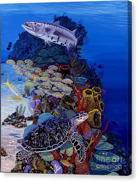 Atlantis Canvas Print - Reefs Edge Re0025 by Carey Chen