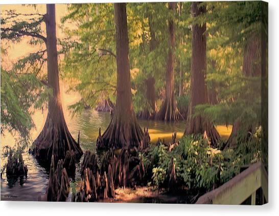 Reelfoot Lake At Sunset Canvas Print