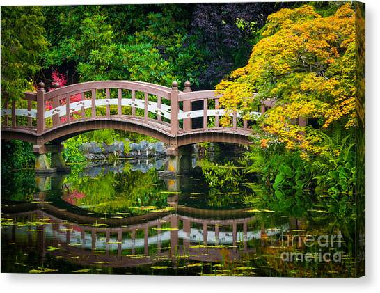 Victoria Falls Canvas Print - Reflected Bridge by Inge Johnsson