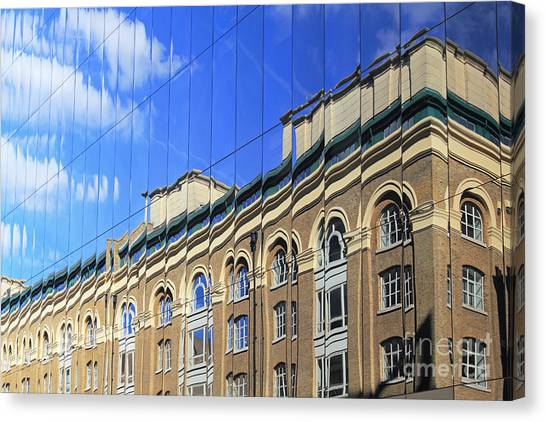Reflected Building London Canvas Print