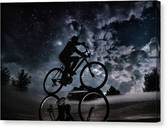Street Canvas Print - Reflected In The Stars... by Antonio Grambone