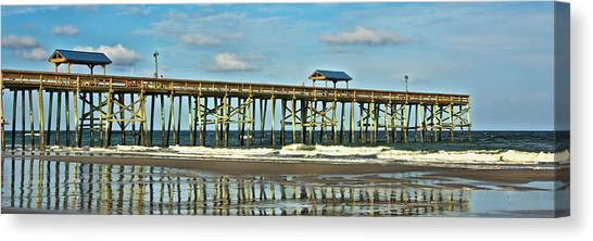 Reflection Pier Canvas Print