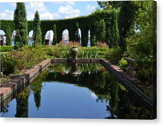 Reflecting Pond Canvas Print by Victoria Clark