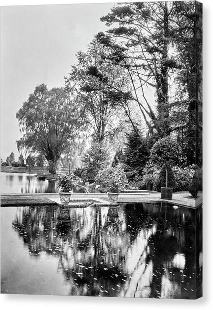 Oysters Canvas Print - Reflecting Pool In Oyster Bay by Mattie Edwards Hewitt