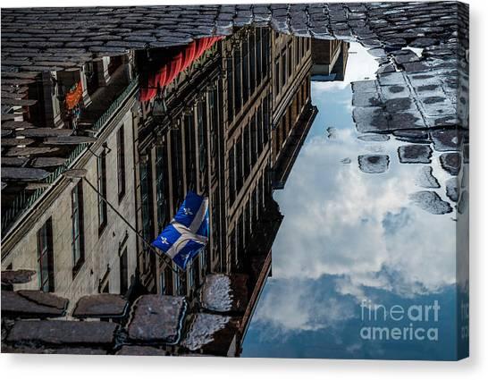 Reflecting Upon Quebec Canvas Print