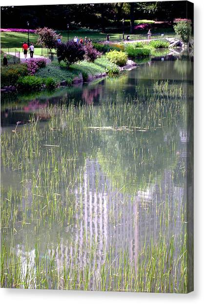 Reflection And Movement Canvas Print