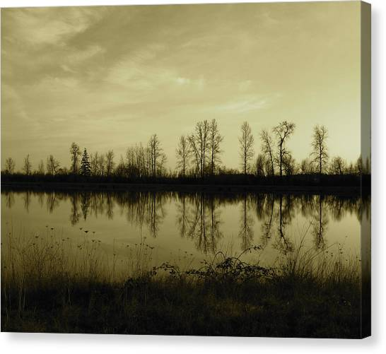 Reflection - Ankeny Wildlife Refuge Canvas Print