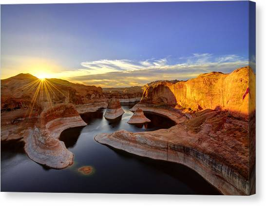 Reflection Canyon Sunrise Canvas Print