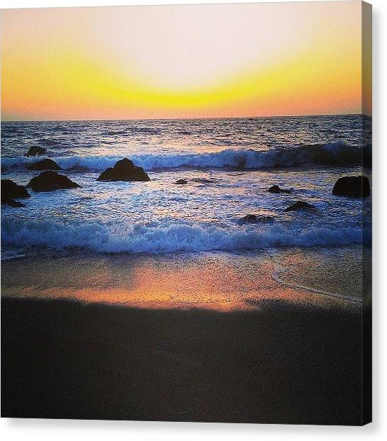 Ocean Sunsets Canvas Print - Reflection by CML Brown