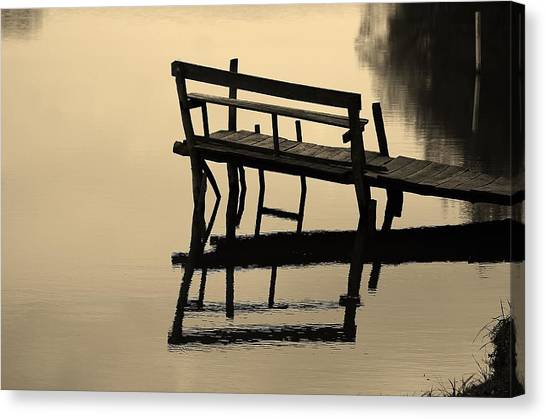 Pontoon Canvas Print - Reflection by Ecaterina Olaru
