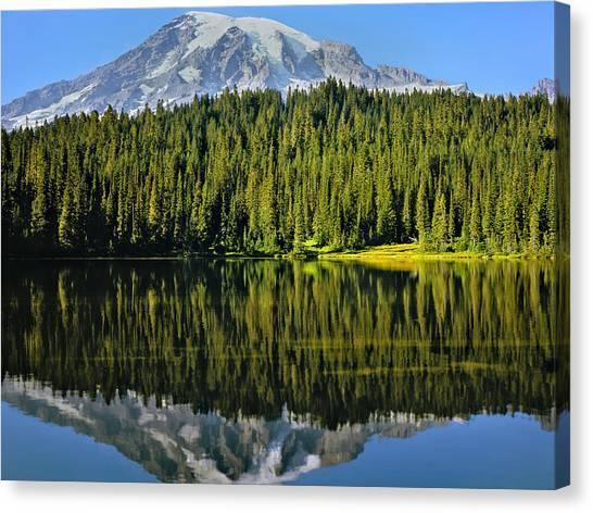 Reflection Lake Mount Rainier Canvas Print