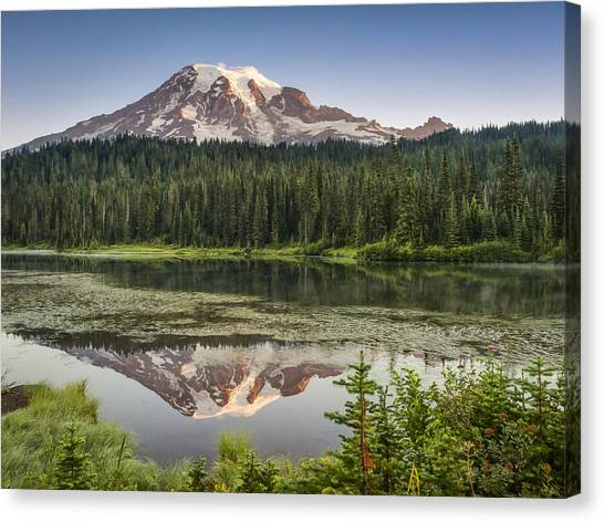 Reflection Lakes At Mount Rainier Canvas Print