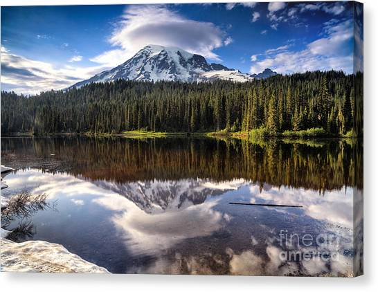 Reflection Lakes Sunset Canvas Print