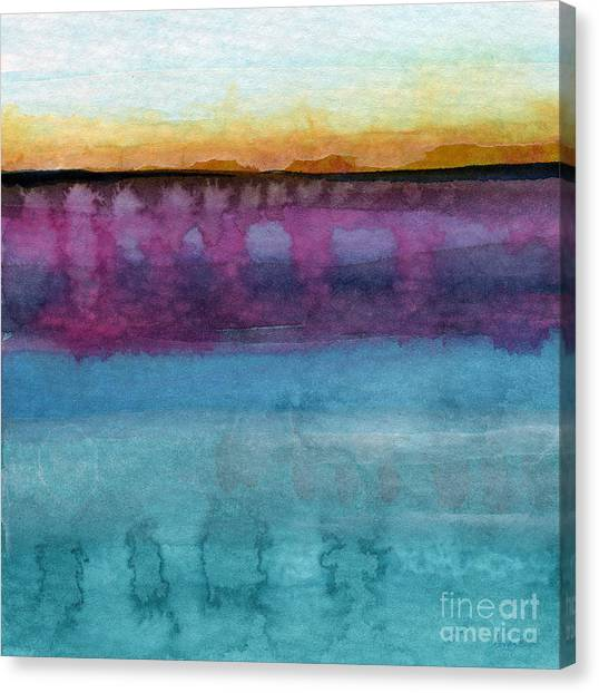 Abstract Seascape Canvas Print - Reflection by Linda Woods