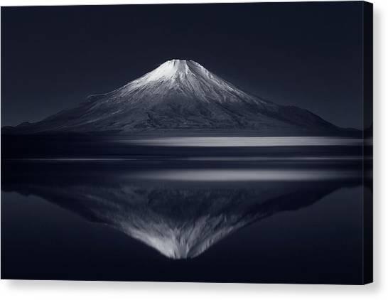 Mount Fuji Canvas Print - Reflection Mt. Fuji by Takashi Suzuki