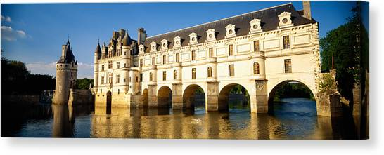 Chenonceau Castle Canvas Print - Reflection Of A Castle In Water by Panoramic Images