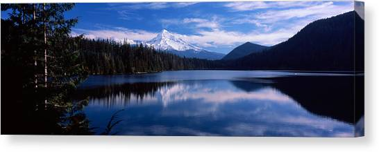 Mt. Hood Canvas Print - Reflection Of Clouds In Water, Mt Hood by Panoramic Images