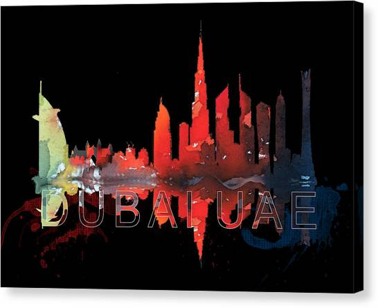 Reflection Of The City At Night Canvas Print