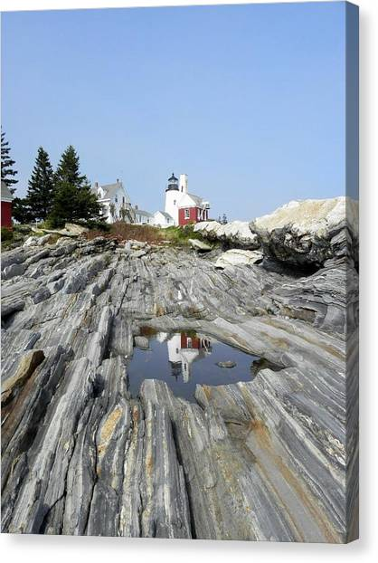 Reflection Of The Lighthouse Canvas Print
