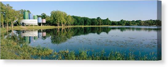 Warner Park Canvas Print - Reflection Of Trees In Water, Warner by Panoramic Images